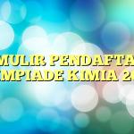 FORMULIR PENDAFTARAN OLIMPIADE KIMIA 2015